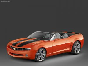 Chevrolet Camaro roadster red