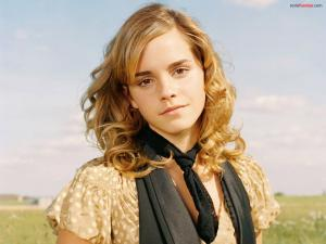 Emma Watson with angelic face