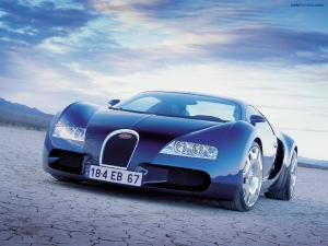 Bugatti blue sports