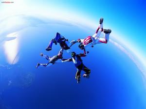 Four in free fall