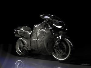 Transparent motorbike