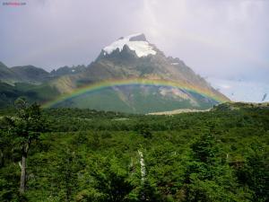 Rainbow in the mountain