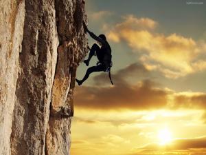 Climbing the stone