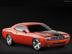 Dodge Challenger in red