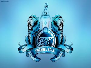 Shield in blues of FC Zenit St. Petersburg