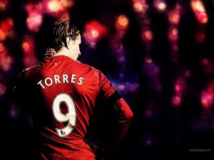 Fernando Torres, number 9 of Liverpool FC