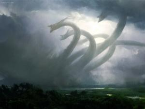 Furious hydra in the storm
