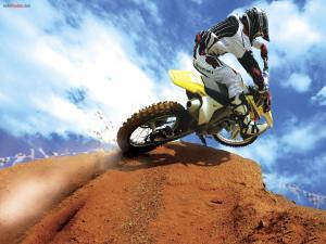Going up a motocross ramp