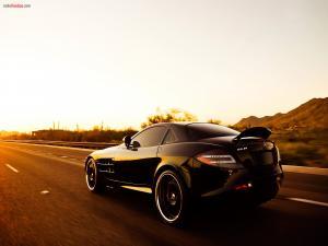 Black Mercedes SLR