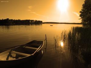 Sunset on a lake