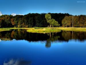 A lake in calm
