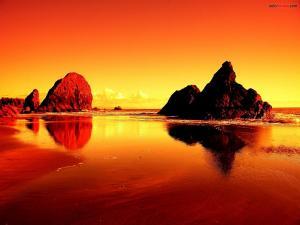Beach of fire