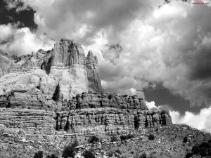Pure rock mountain