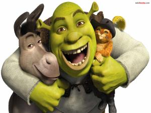 Shrek and his friends