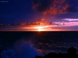 Sunrise on the horizon