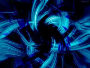 Bursts of blue light