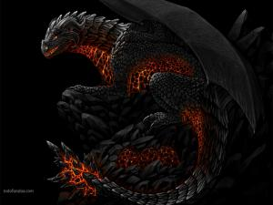 Rock and fire dragon