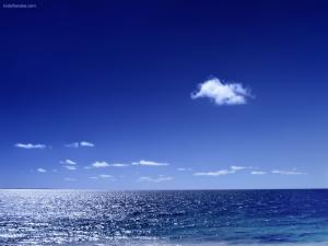 Sea and sky blue