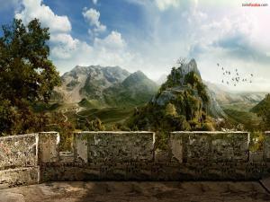 Gazebo to mountains