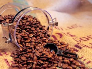 A coffee jar opened