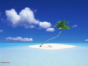A tiny island