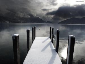 A small frozen dock