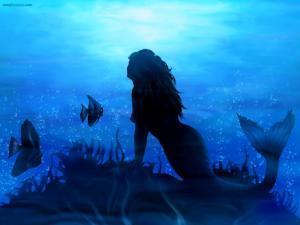 Mermaid of blue waters