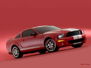 Shelby GT 500 red
