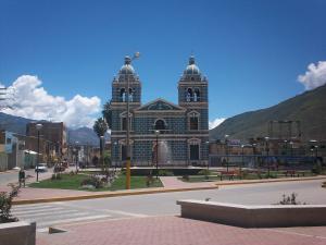 San Sebastián church, in Plaza of Huánuco (Peru)