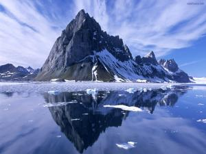 Reflections in icy waters
