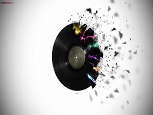 Vinyl record disintegrating