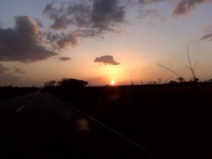 Sunset in a place of Venezuela