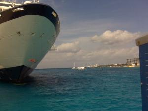 Arriving in port