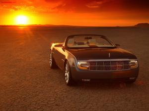 Convertible car in the desert