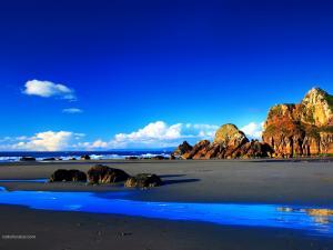 Bluish beach