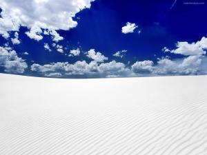 White sand desert