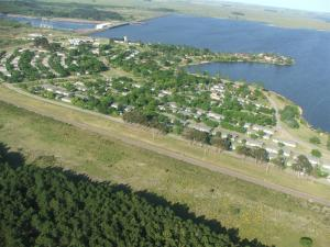 Aerial view of a dam