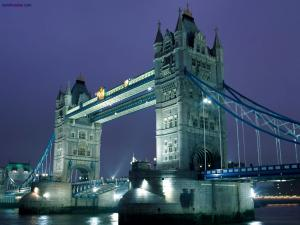 Tower Bridge, at night