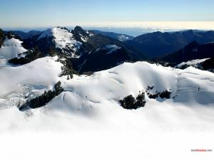 Mountains snow covered