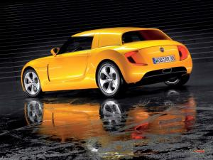 A nice yellow Volkswagen