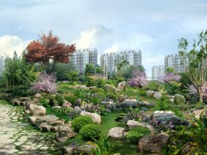 Gardened park