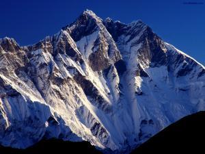 Snowed rocky summits