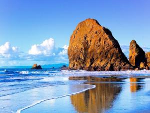 Huge rock on the beach