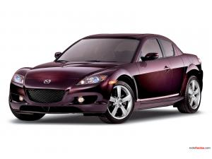 Burgundy color Mazda