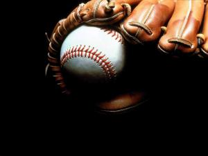 Glove and ball of baseball