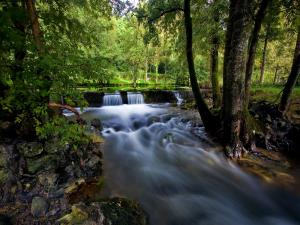 Water flowing in the nature
