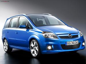Blue Opel car