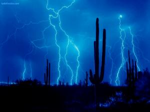 Electric blue desert