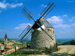 Windmills in Lautrec (France)
