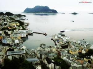 Town of Alesund in Norway
